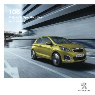 Prijslijst Peugeot 108