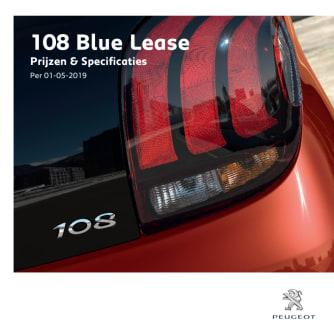 Prijslijst Peugeot 108 Blue Lease