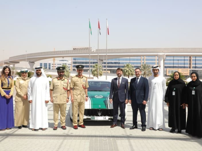 The iconic Maserati GranTurismo joins Dubai Police luxury