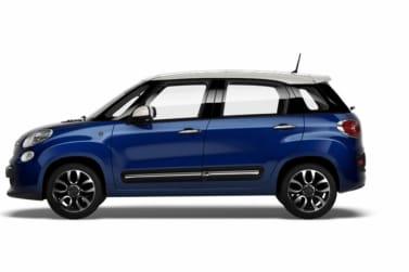 Fiat 500L Blue Side Exterior