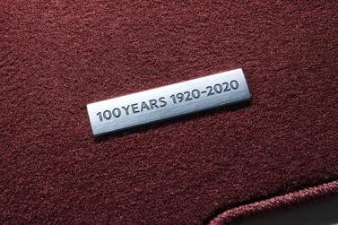 New Mazda 100th Anniversary Edition carpet logo