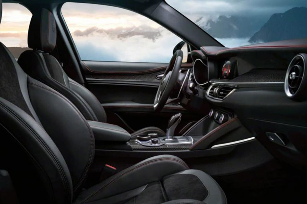 Three Trim Levels To The All New Alfa Romeo Stelvio For Uk Seats Standard Comes With 17 Alloy Wheels 88inch Connect And An 8 Speaker System Safety Features Include Autonomous Emergency Breaking