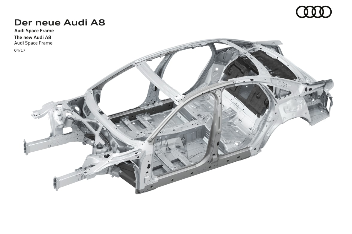 Audi A8 to feature innovative Space Frame | Lookers Audi