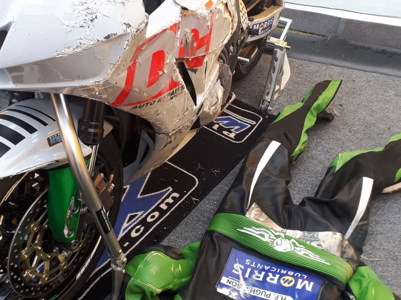 Barry's racing season affected by TT crash    Greenhous Vauxhall