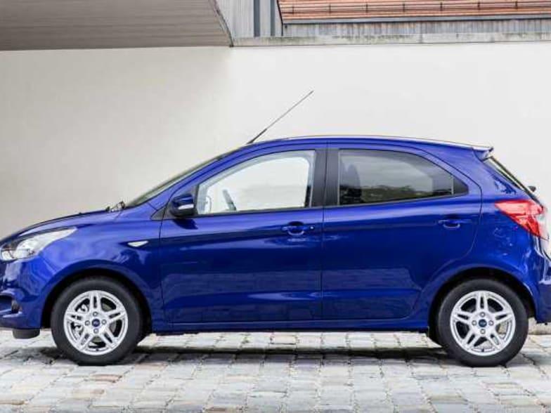 New Blue Ford Ka Studio Side View