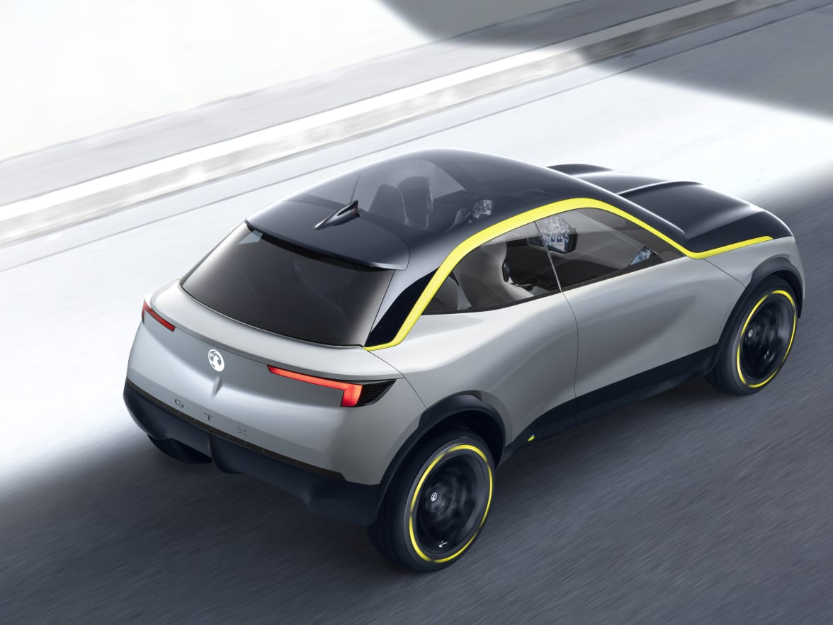 Vauxhall Announce New Brand Concept Donnelly Sports Car Door Handles And Exterior Mirrors Have Been Removed With Rear Vision For The Driver Provided By Small Cameras Embedded In Yellow Graphic Lining