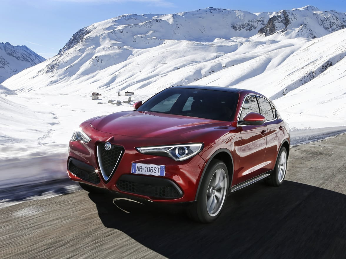 Alfa Romeo Stelvio Guildford Surrey Bishops Rear Axle Finished With A Spoiler For Maximum Aerodynamic Performance And Two Exhaust Tips That Bring This Sporty To Life Inside The