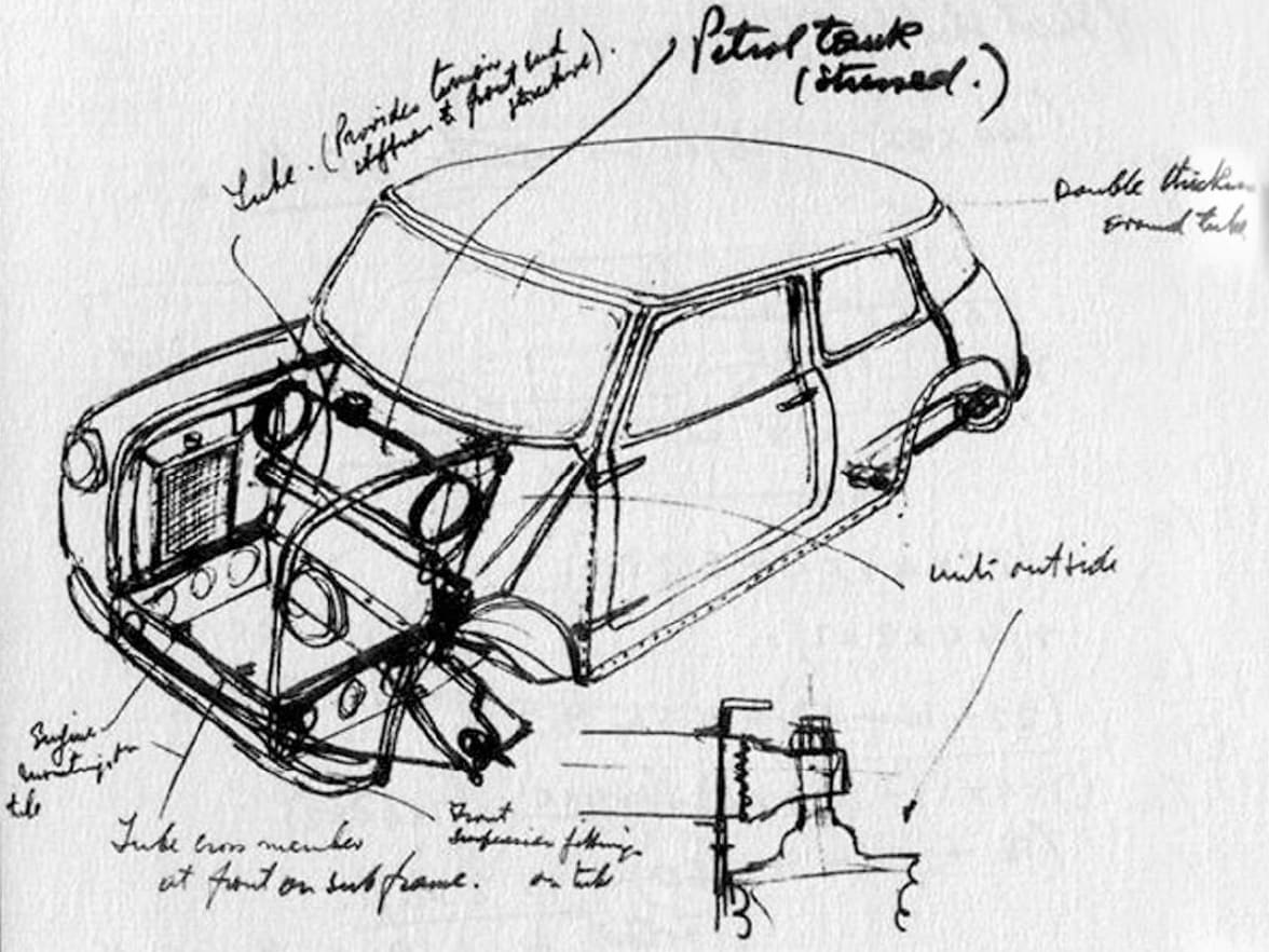 Mini John Cooper Works The Story Dick Lovett Brakes Diagram One Of First Sketches A