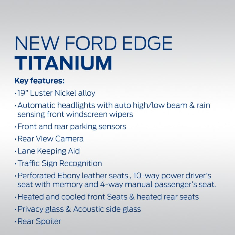 New Ford Edge Offers