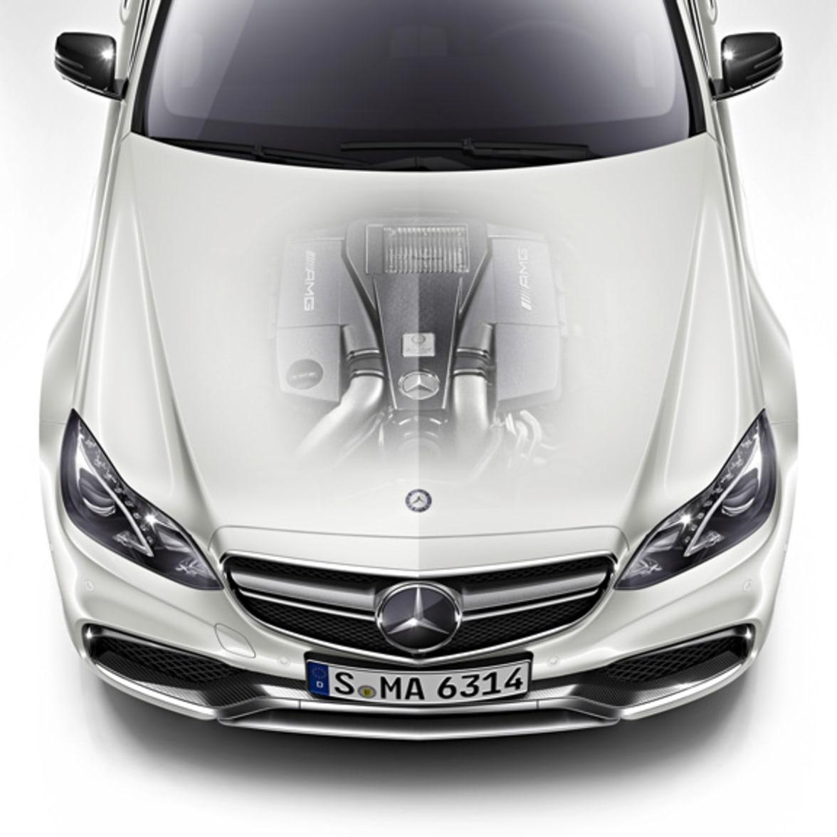 Mercedes Benz Bonnet Engine Shot