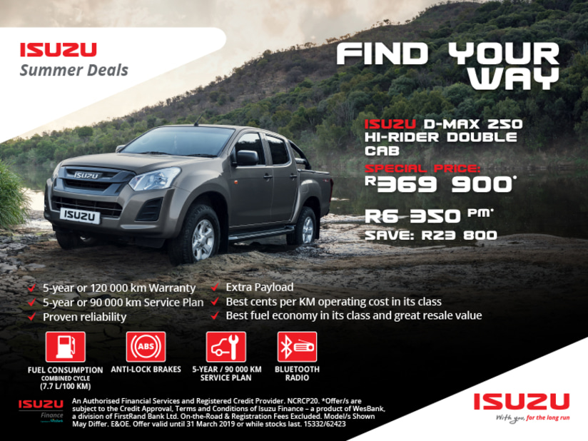 Find Isuzu Specials Online New Used Bakkie Deals With Reeds