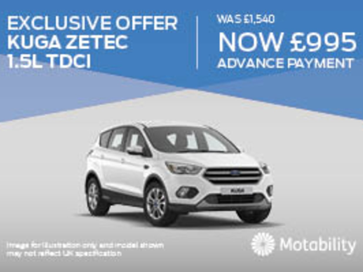 Ford Kuga Zetec Motabililty Offer
