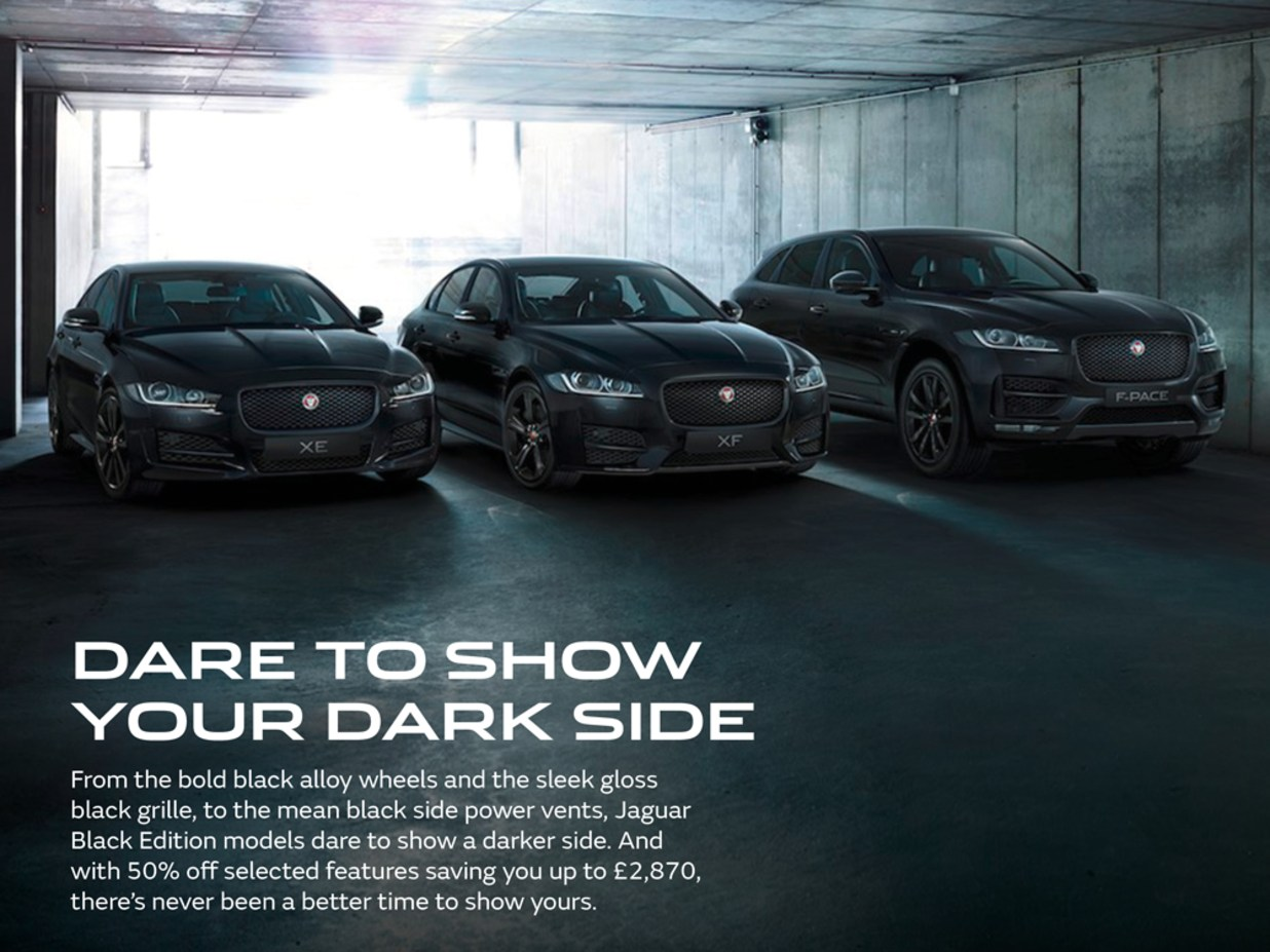 Jaguar Black Edition Range Charles Hurst