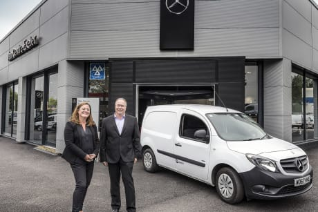 50a363e67c Snows Mercedes-Benz Vans Centre Exeter partner with STR Logistics ...