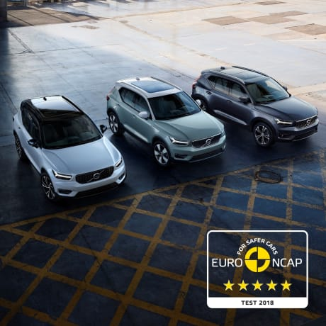European Car Of The Year Volvo Xc40 Receives Euro Ncap Five Star