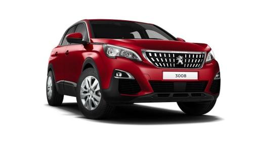 Peugeot 3008 SUV rood