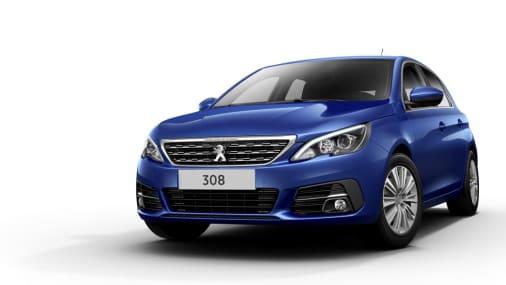 Nieuwe Peugeot 308 blauw