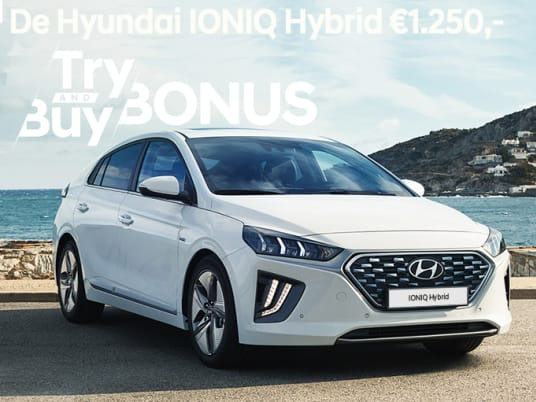 Ioniq hybrid try and buy