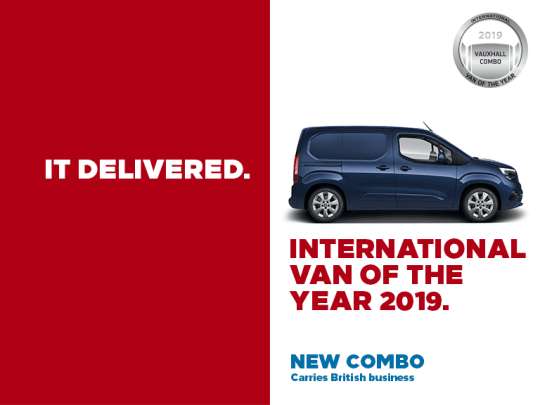 4a423a5e1a4fca Vauxhall Combo Voted International Van Of The Year 2019