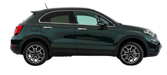 Fiat 500X Dark Green Side Exterior