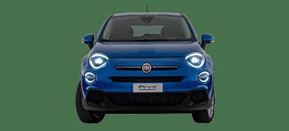 Fiat 500X Blue Front Exterior