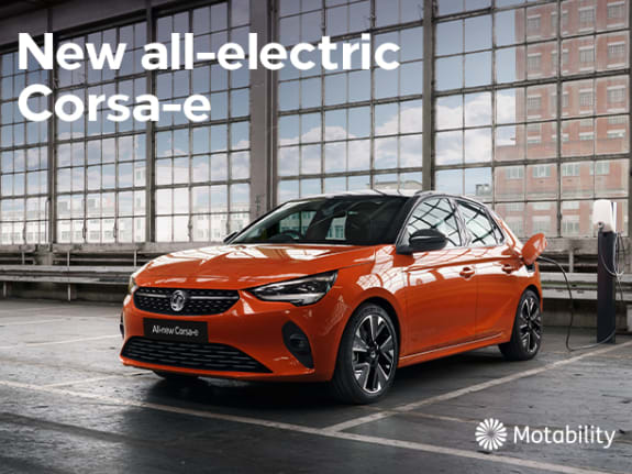 New all-electric Corsa-e Motability