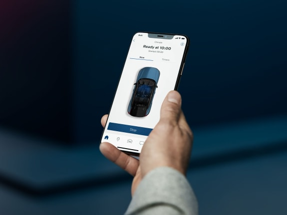 The Volvo Cars app can be used to pre-heat and pre-cool the cabin.