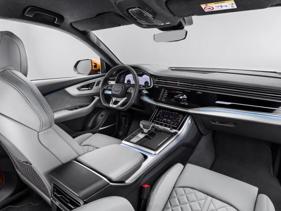 Interior of Audi Q8