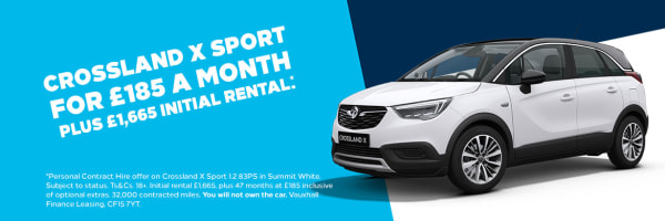 Crossland X Sport - From £185 per month and £1,665 initial rental*