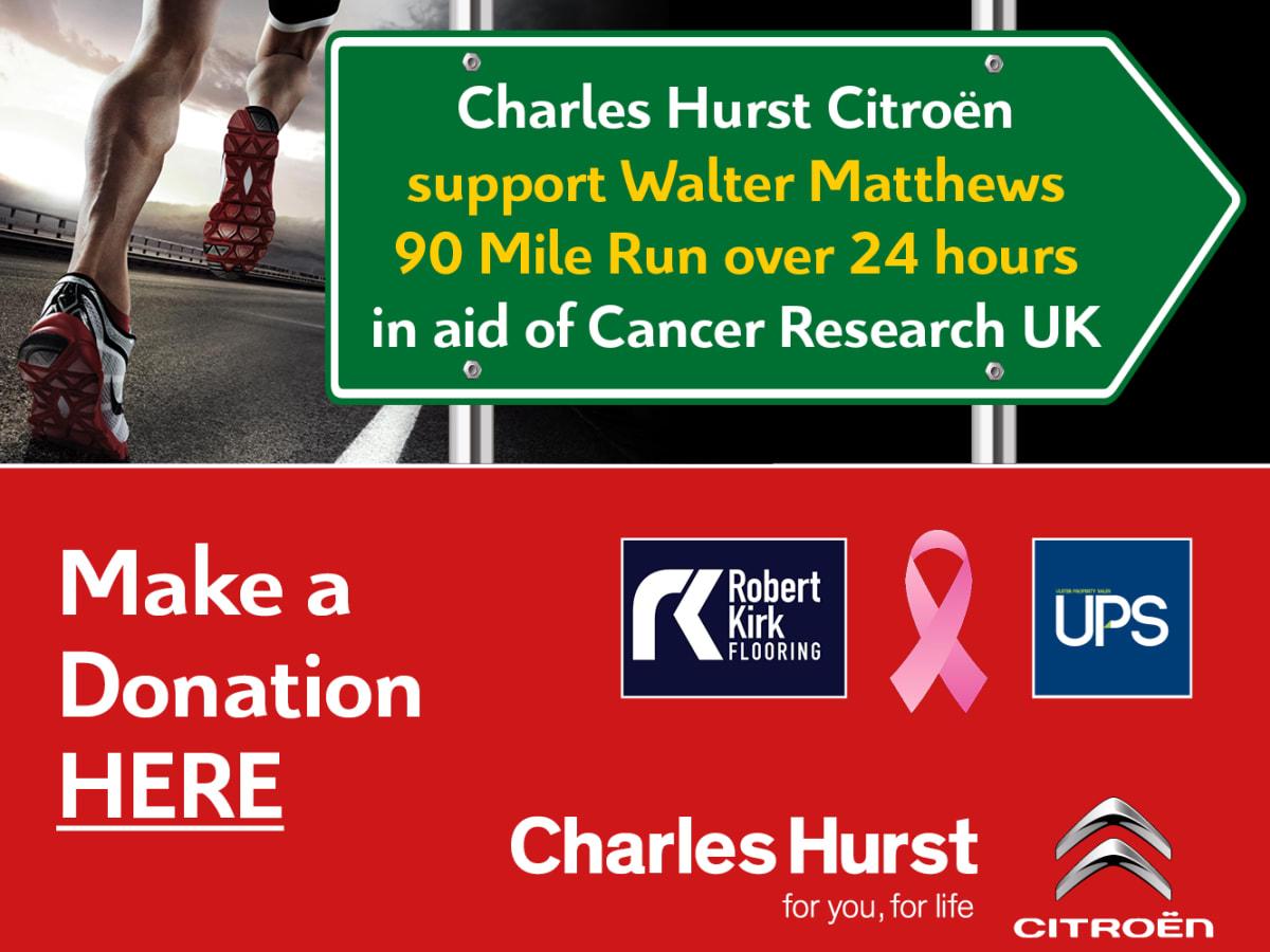 60b1849d3f Charles Hurst Citroen Support Walter Matthews 90 Mile Run in 24 Hours