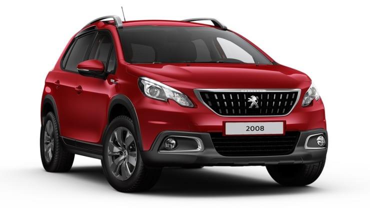 Peugeot 2008 rood