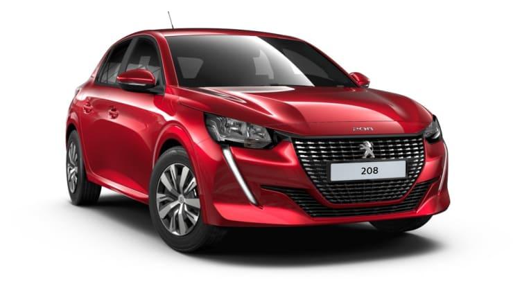 Nieuwe Peugeot 208 rood