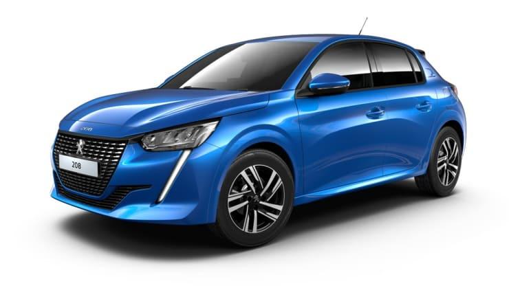 Nieuwe Peugeot 208 blauw