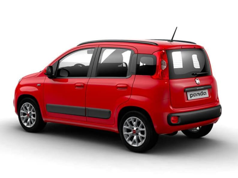 Red Fiat Panda Rear Exterior