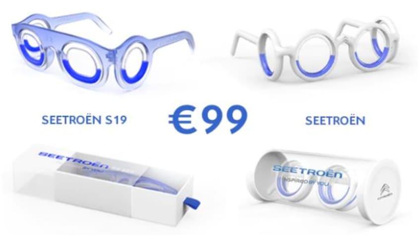 Seetroën-bril van Citroën tegen reisziekte