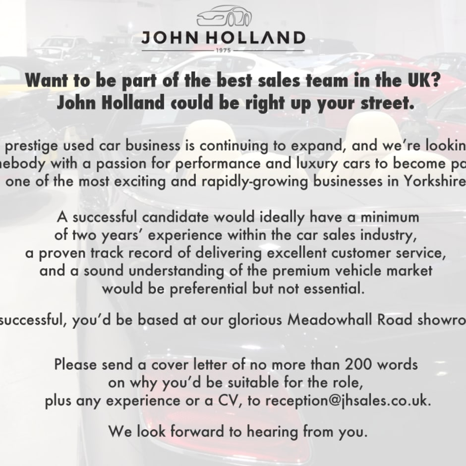 careers john holland sheffield south yorkshire john holland our current vacancies
