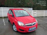 VAUXHALL ZAFIRA 2014/14, 1.8i Exclusiv, Parking sensors, 7 seater