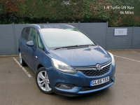 VAUXHALL ZAFIRA TOURER 2016/66, 1.4i Turbo, SRi Nav, 7 Seater