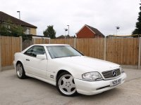 Mercedes-Benz SL SL500 5.0 Auto R129 AMG Sport Pack Styling Convertible Hard Top Full Leather Heated Seats Climate Control Only 80,000 Miles Very Good Condition 100% Original Only 290 Pounds a Year Road Tax N-Reg