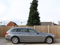 BMW 5 Series 520d SE Turbo Diesel 184 PS 8-Speed Auto Rear DVD Sat Nav Surround Rear Cam Bluetooth DAB Full Leather Heated Seats Parking Assistance Collision Warning Night Vision Just 2 Private Owners Only 56,000 Miles Full BMW Service History From The Supplying Deale