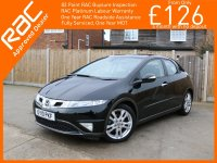 Honda Civic 1.8 i-VTEC ES 5 Door Auto Pan Roof Climate Control Same Private Owner for more than the last 5 Years Only 57,000 Miles Full Service History 10-Re