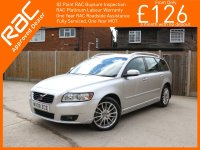 Volvo V50 2.0 D Turbo Diesel SE LUX 6 Speed Estate Full Leather Heated Seats Climate Control Parking Sensors Just 2 Private Owners Only 76,000 Miles Full Service History 8 Stamps 08-Reg