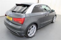 "Audi A1 1.4 TFSI S LINE SEMI AUTOMATIC 3 DR, PART LEATHER, OPEN SKY PANORAMIC ROOF, BLACK STYLING PACK, TECHNOLOGY PACK, 18"" X 7.5J 7 TWIN SPOKE ALLOYS, CLIMATE CONTROL, FRONT CENTRE ARMREST, PRIVACY GLASS,  AIR CONDITIONING, AUTO CLIMATE CONTROL, AUTOMATIC LIGHT"