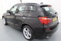 "BMW X3 2.0L XDRIVE20D M SPORT AUTOMATIC 5 DR ESTATE,  BLACK SAPPHIRE METALLIC, BLACK NEVADA LEATHER, 19"" LIGHT ALLOY WHEELS - M DOUBLE SPOKE STYLE 369M, REVERSEING ASSIST CAMERA WITH TOP VIEW,  HEATED FRONT SEATS, ALUMINIUM INTERIOR TRIM, AUTOMATICALLY DIMMING &"