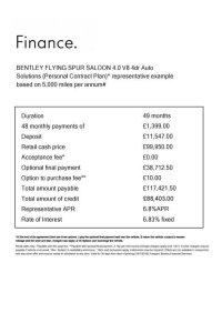 BENTLEY FLYING SPUR 4.0 V8 4dr Auto