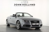 Audi A5 A5 Cabriolet S Line 2.0TFSI Quattro, 19 inch Alloys, Bluetooth, Xenon Headlights, Heated Seats, Sports Suspension, Multi Function Leather Sports Steering Wheel with Paddles, Centre Arm Rest, Rear Parking Sensors.