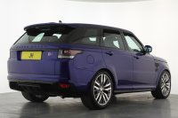 Land Rover Range Rover Sport 5.0 V8 S/C SVR 5dr Auto, 22 Inch Alloys, Estoril Blue Brake Calipers, Glass Panoramic Sunroof. Sat Nav, Bluetooth, Adaptive Cruise, Rear Camera, Switchable Sports Exhaust, Electric Seats, Stunning
