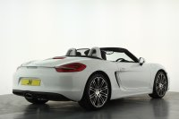 "Porsche Boxster 2.7 2dr PDK, Full Porsche Service History, 20"" Turbo Alloy Wheels, Bluetooth, Heated Seats, Rear Park Assist, Wind Deflector, Floor Mats,Auto Lights, LED Daytime Running Lights, Roll over hoops in White."