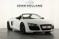 Audi R8 4.2 FSI V8 Quattro 2dr S Tronic, Low mileage, Full Service History, 19inch Black Double Spoke Alloy Wheels, Satellite Navigation Plus, Front and Rear Parking Sensors, Multi Function Flat Bottom Steering Wheel, Paddle Shift, Bluetooth, Heated Seats.