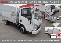 Isuzu Trucks N35.120 Grafter T LWB Dropside Tail-lift BRAND NEW 358.80 + VAT P/M*